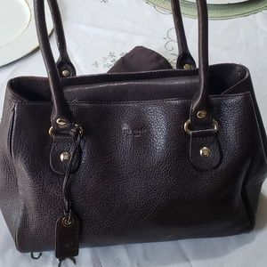 Used Kate Spade Dark Brown purse with dust cover